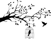 15234017-tree-silhouette-with-bird-flying