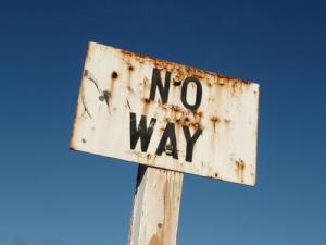 no way sign