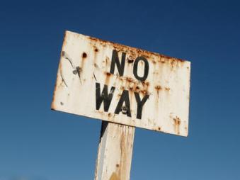 no way sign
