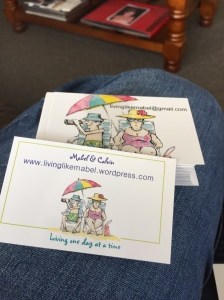 Squeal the blog has 'business' cards :O